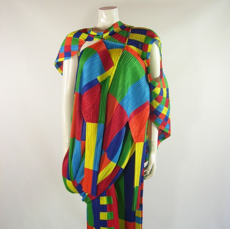 Vintage Issey Miyake PLEATS PLEASE Mondrian inspired Suit 1996