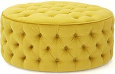 yellow ottoman - Google Search                                                                                                                                                      More