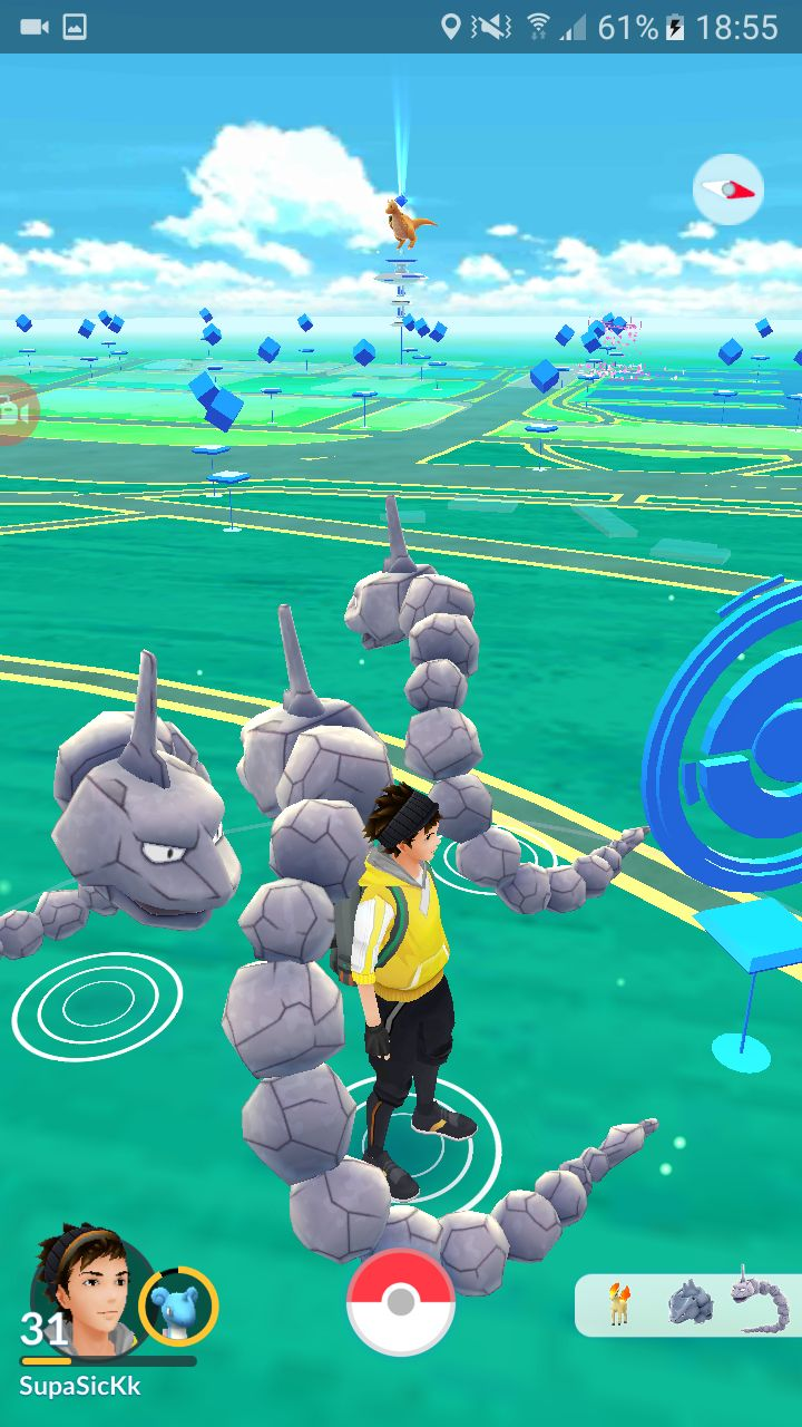 Onix party now i only need paper scissors pokemon