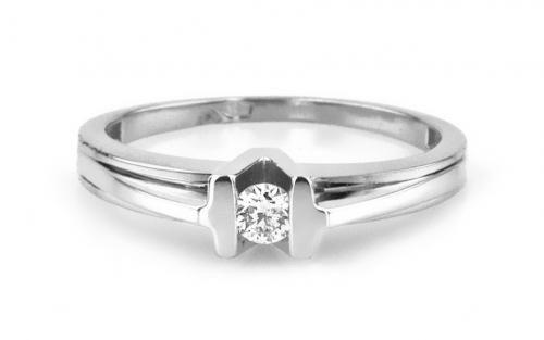 """Diamantový snubný prsteň,, Diamond for you"""" white"""