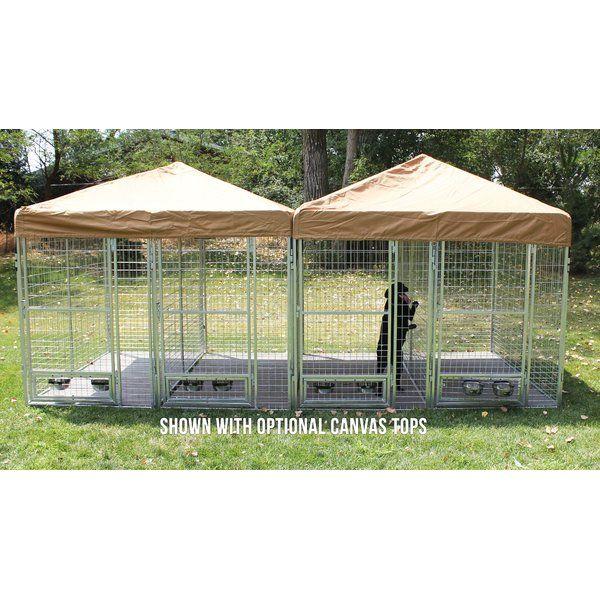 You Ll Love The Burbach 3 Dog Galvanized Steel Yard Kennel Great