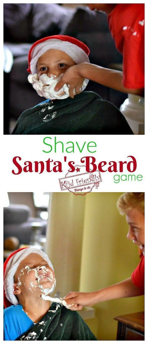 Christmas Party Game Ideas For Kids Part - 49: Shave Santau0027s Beard Christmas Game For Kids, Teens, And Family - Great  Minute To Win It Game