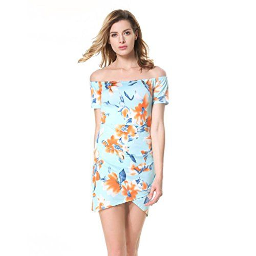"""Paymenow Women Strapless Off Shoulder Floral Irregular Bodycon Short Mini Dress  ★ Material:Polyester  ★ Feature: Strapless Off Shoulder Floral Irregular Bodycon Short Mini Dress  ★ Occassion:daily,travel,beach,sport,party,camping and so on.  ★ Super soft and feel cool in this hot summer  ★ Welcome to """"Paymenow"""",please check the description for size before order,any problem,please feel free to contact us,we will give you best solution.Thanks a lot."""