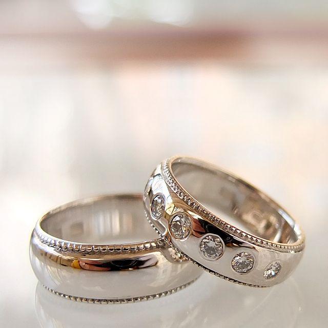 Wasze Obrączki z białego zlota, damska z 7 diamentami. wszystkie pytania prosimy kierować tu: waszeobraczki@gmail.com