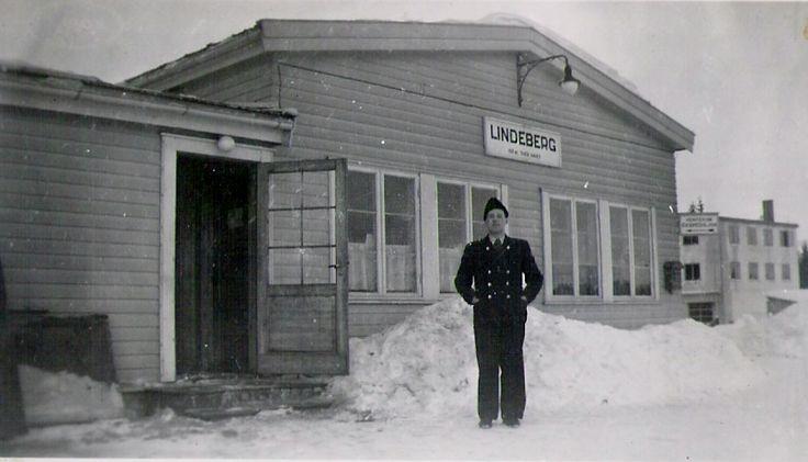 Lindeberg stasjon 1948 - hovedbanen Oslo-Eidsvold - Sørum kommune - Romerike - Akershus fylke