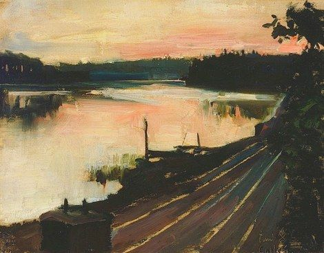 Akseli Gallen-Kallela, View from Eläintarha at Sunset
