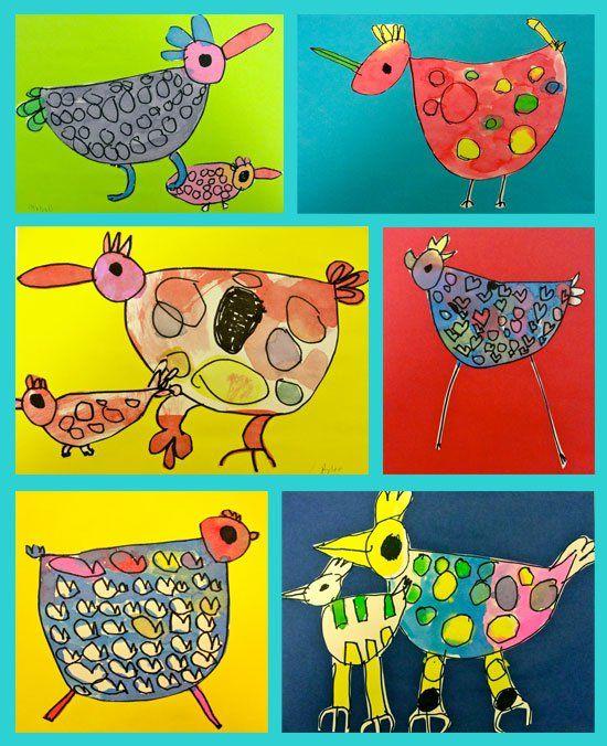 "Watercolor ""Shape"" Birds for Kinder   Deep Space Sparkle"