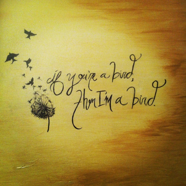 Notebook quote I painted last night.
