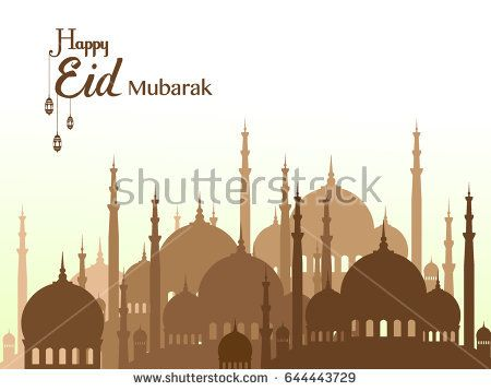 happy eid mubarak greetings background, Elegant element for design template, place for text greeting card for Ramadan kareem