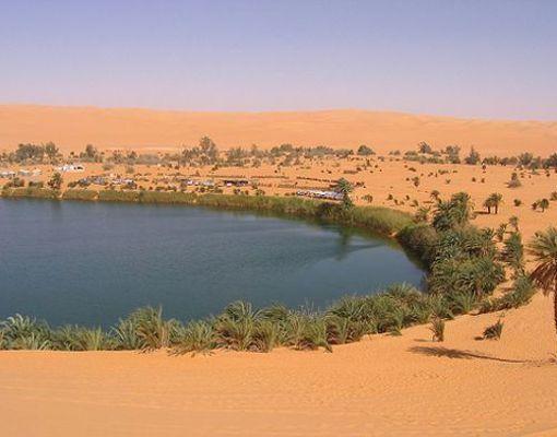 Desierto de Sahara, el mas calido del mundo.