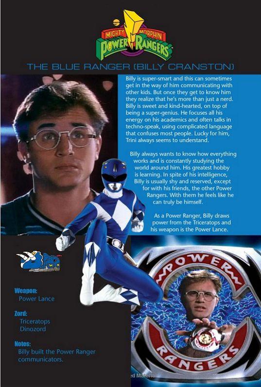 The Blue Ranger (Billy Cranston)