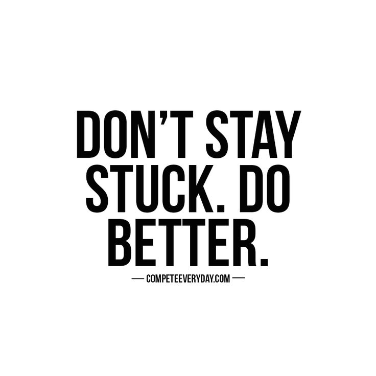 Don't let one setback keep you down, one idea keep you in neutral. Find the strength to compete - and do better.