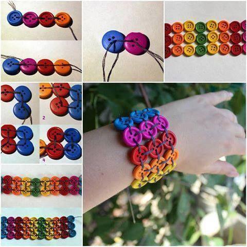 Ne dedicăm ziua ideilor cu nasturi, așa că iată o idee pe cât de creativă, pe atât de frumoasă! Faceți bijuterii cu nasturi colorați. Brățări, cerceluși și medalioane. Trimiteți-ne și nouă poze!