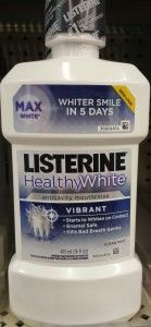 Listerine Whitening Pre Brush Rinse is fast and easy to use! Have you used it?
