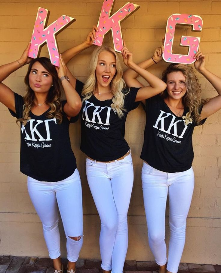 Kappa Kappa Gamma Set One Recruitment Shirts made by Bloom Sorority Apparel