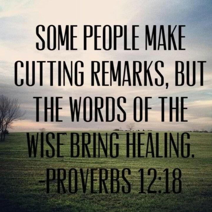 Words Of Comfort Proverbs 12:18
