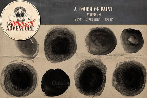 On sale - Painted circles by On A Whimsical Adventure on @creativemarket