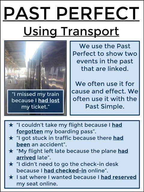 #tefl #tesol #grammar #learnenglish AskPaulEnglish: PAST PERFECT Using Transport