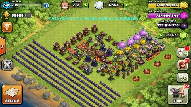 Cara Cheat Coc Unlimited Paling Ampuh Di Android Clash Of Clans Game Aplikasi