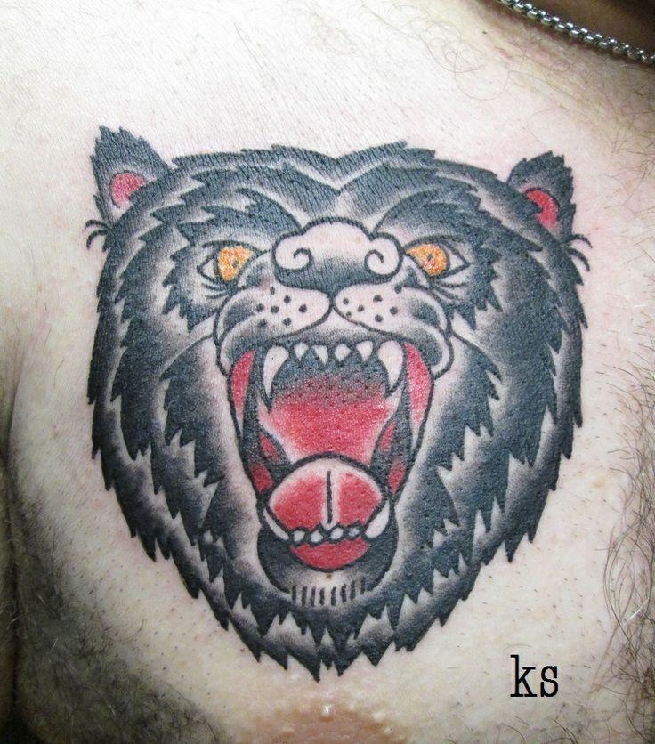 Traditional Bear Tattoo #TraditionalTattoo #KaylaSergio # ...