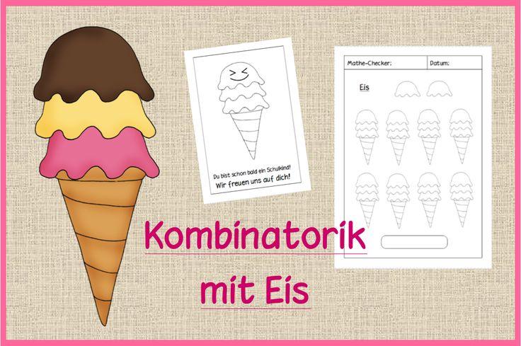 Für den Besuch der Kindergartenkinder habe ich eine Kombinatorik-Einheit zu Eis geplant. Die Kinder sollen gemeinsam knobeln, wie viele Mög...