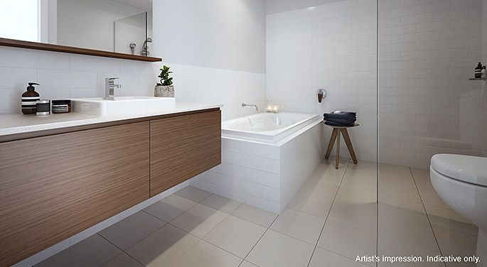 Bathroom interior.   The coastal location provided the perfect blank page for Arkee Interior Designers to source inspiration and reflect a modern innovative Australian design.   See more Arkee Creative work at www.arkee.com.au we love the blank page.