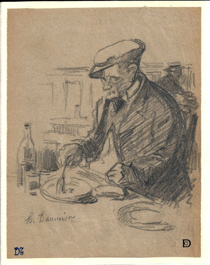Personaje comiendo atribuido a Honoré #Daumier. #Dibujo de la Escuela Francesa del Siglo XIX. Lápiz y aguada gris en papel verdoso. #Arte #ObraGráfica #dibujos #obra #pintor #pintura #Museo #PatrimonioNacional #BellasArtes #grabado #PinturaContemporanea Character eating attributed to Honoré #Daumier. #Drawing from the 19th century French school. Pencil and aguada in green paper. #Art #Drawings #DrawingsPainter #Painting #Museum #NationalHeritage #FineArt #Engraving #ContemporaryPainting