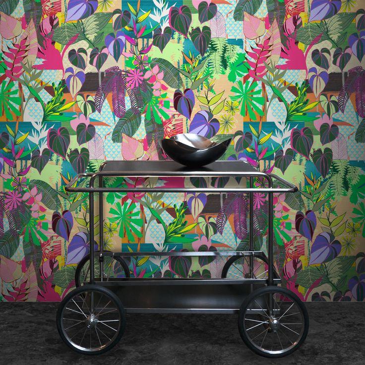 Monstera by KahandiDesign on Feathr.com  #patternsfromagency #patternsfromfinland #pattern #patterndesign #surfacedesign#kahandidesign