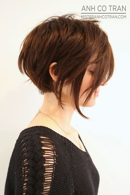 asymetrical bob cut