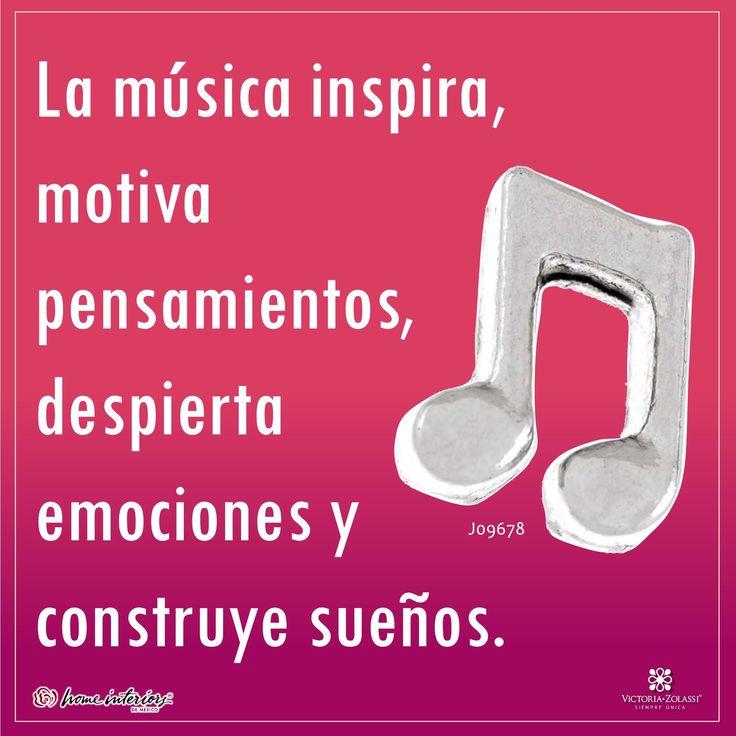 ¡La música inspira! Celebra la vida y comparte lo que más te gusta. #victoriazolassi #locketsVZ #lockets #charms #musica #music #notamusical #frasesdemusica #frasesmotivacionales #inspiracion #inspirate #frases