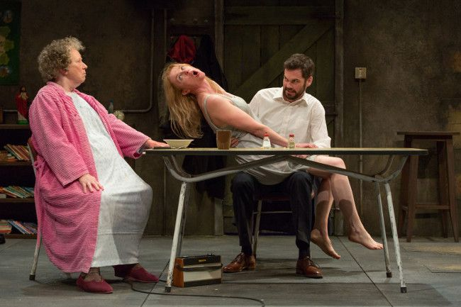 """CAST OF """"THE BEAUTY QUEEN OF LEENANE"""" AT MARK TAPER FORUM - http://anythingla.com/cast-of-the-beauty-queen-of-leenane-at-mark-taper-forum/ - [caption id=""""attachment_8038"""" align=""""aligncenter"""" width=""""650""""] L-R: Marie Mullen, Aisling O'Sullivan and Marty Rea in the Druid production of """"The Beauty Queen of Leenane"""" by Martin McDonagh. Directed by Garry Hynes, the production will run November 9 through December 18, 2016, at the Mark Taper Forum. Photo by Stephen Cummiskey.[/"""