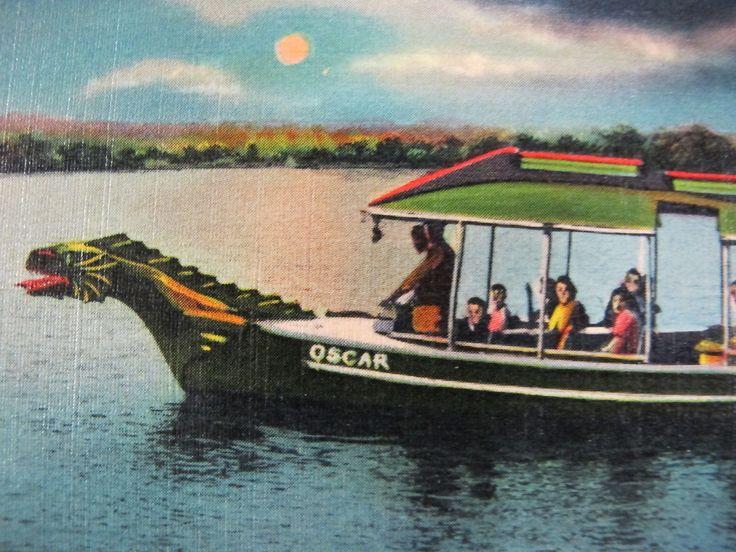 1920s Canandaigua Lake ROSELAND PARK Postcard OSCAR THE YODEL BOAT Finger Lakes | Roseland Park Playground Of Finger Lakes Canandaigua New York