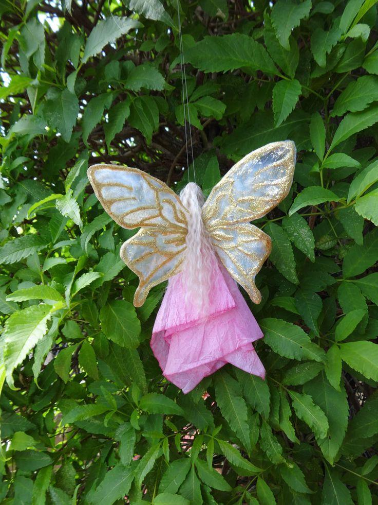 Fada rosa/ enfeites/ asas