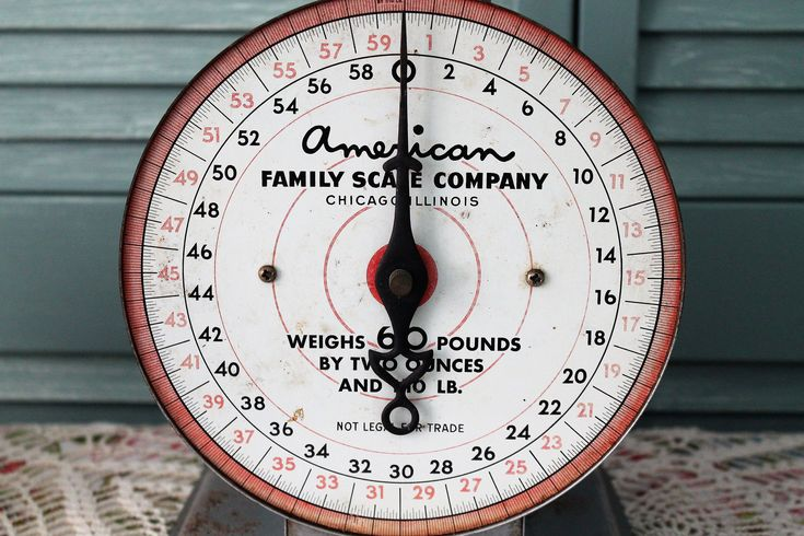 Industrial Tabletop Kitchen Scale. Vintage American Family Scale Company Chicago.  60 lb.