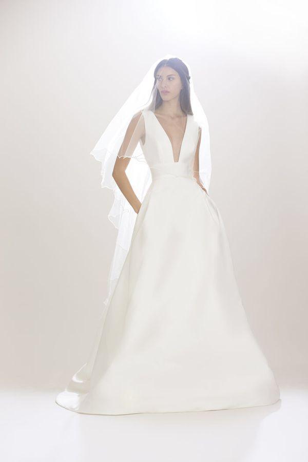 Carolina Herrera i suknie ślubne w stylu księżniczek