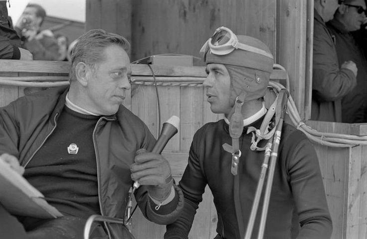 Nach dem Triumph wurde Schranz sofort zum Interview gebeten - ähnlich wie heute... Mehr Fotos finden Sie hier: http://www.nachrichten.at/nachrichten/fotogalerien/cme155574,982555 (Bild: Schaad)