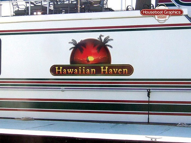 Houseboatgraphicsvinylboatname Graphics And Logos - Custom designed houseboat graphics