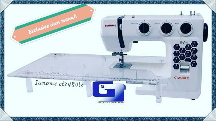 Janoome ct2480lx dgn tambahan meja extention memudahkan anda untuk menjahit bidang yg luas,exclusive dan rekomended