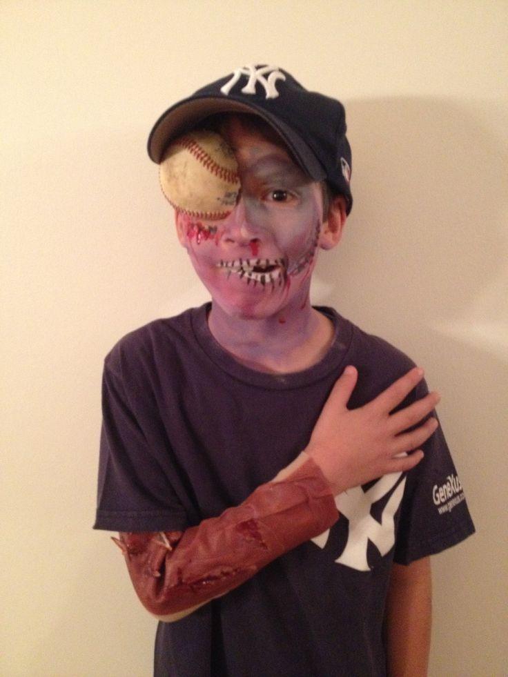 Zombie Baseball Player Halloween Pinterest