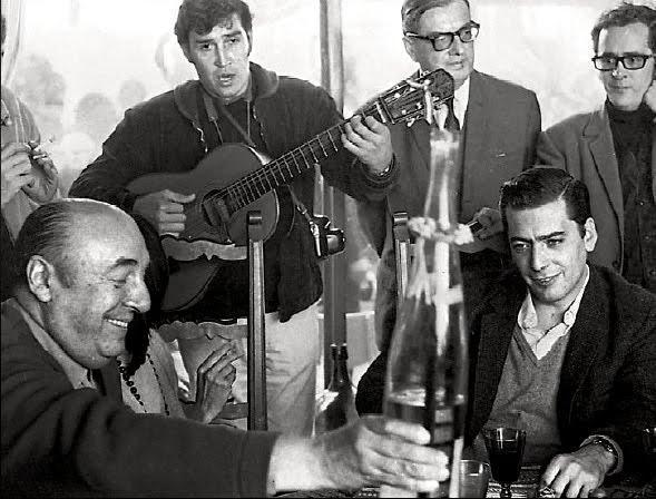 Pablo Neruda and Mario Vargas LLosa