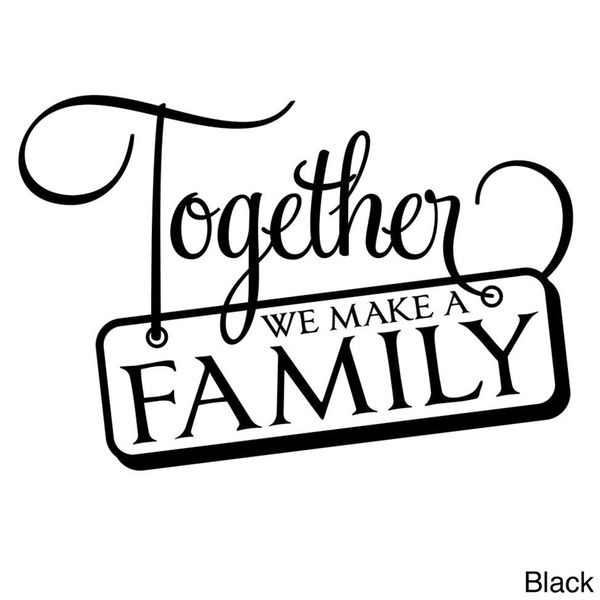 This matte finish vinyl wall art has an unlimited indoor lifespan. This design is prespaced and ready to apply with a word graphic that is removable but not reusable and features a phrase 'Together we