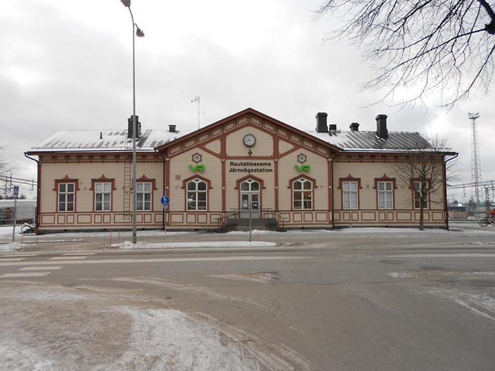 The lovely wooden railway station in Kokkola, Finland.