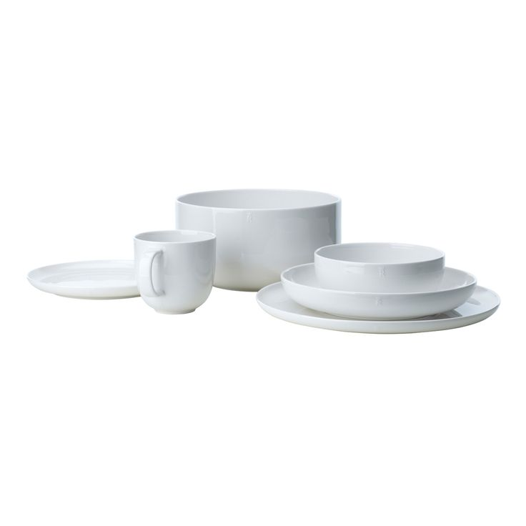 Inwhite tallerken fra Rörstrand, designet av Monica Förster. Et enkelt og moderne hverdagsporselen m...