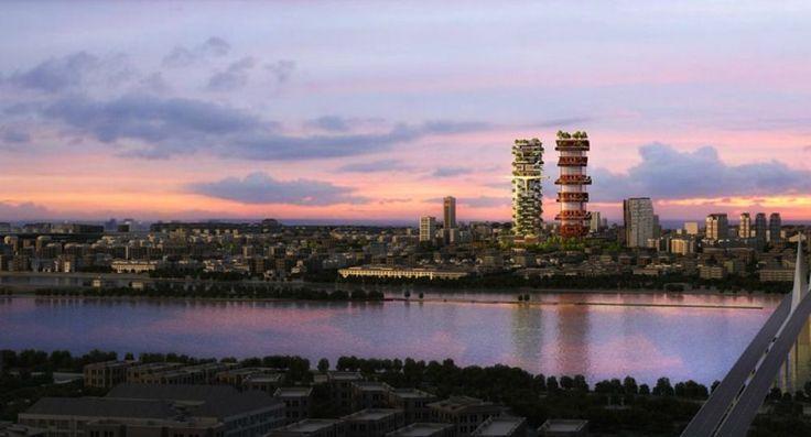 Proyecto Zoomlion, parque científico y maravilla arquitectónica El estudio de arquitectura estadounidense AmphibianArc se encarga del diseño del proyecto Zoomlion en la ciudad de Changsha (China); un parque científico que agrupará tres grandes edificios, dos torres y un espacio de exposiciones mutante para la compañía Zoomlion especialista y de renombre mundial en la industria de maquinaria de construcción.  http://wp.me/p6HjOv-3Zx ConstruyenPais.com