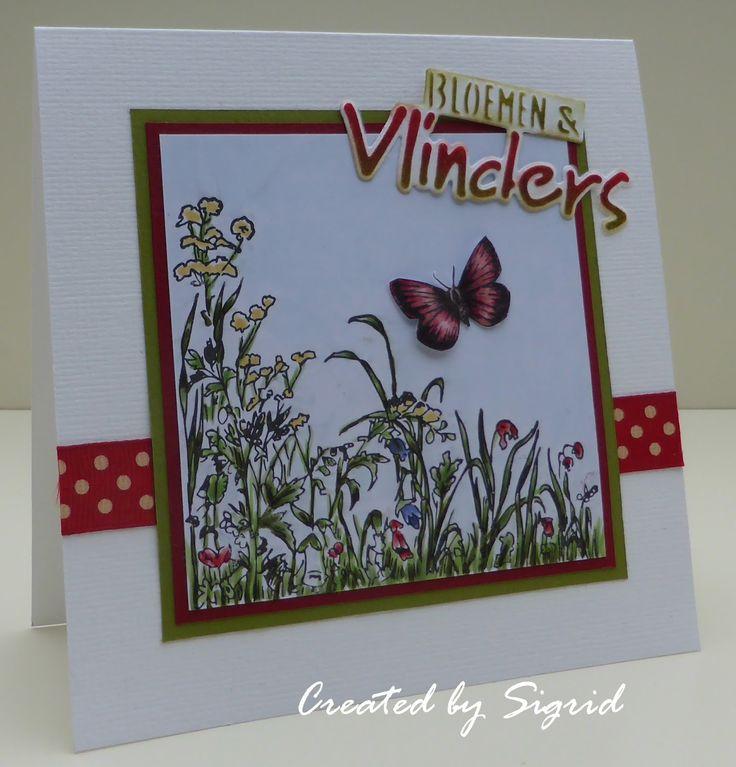 #mariannedesign #stempel CS0926 Bloemen en vlinders #craftable CR1313 Bloemen & vlinders