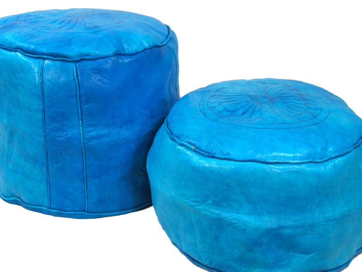 Turquoise leather seats from Morocco http://www.etnobazar.pl/shop/etnoswiat/profile/search/ca:pufy