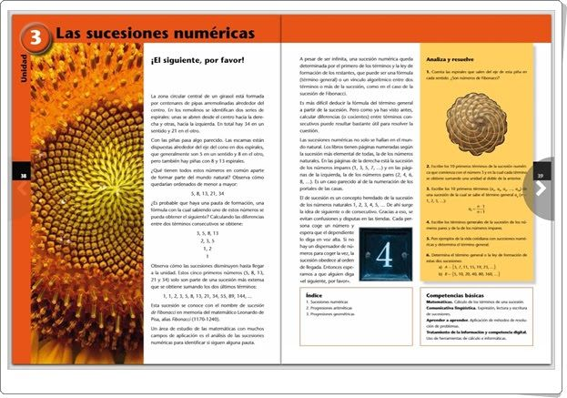 """Unidad 3 de Matemáticas de 3º de E.S.O.: """"Las sucesiones numéricas"""""""