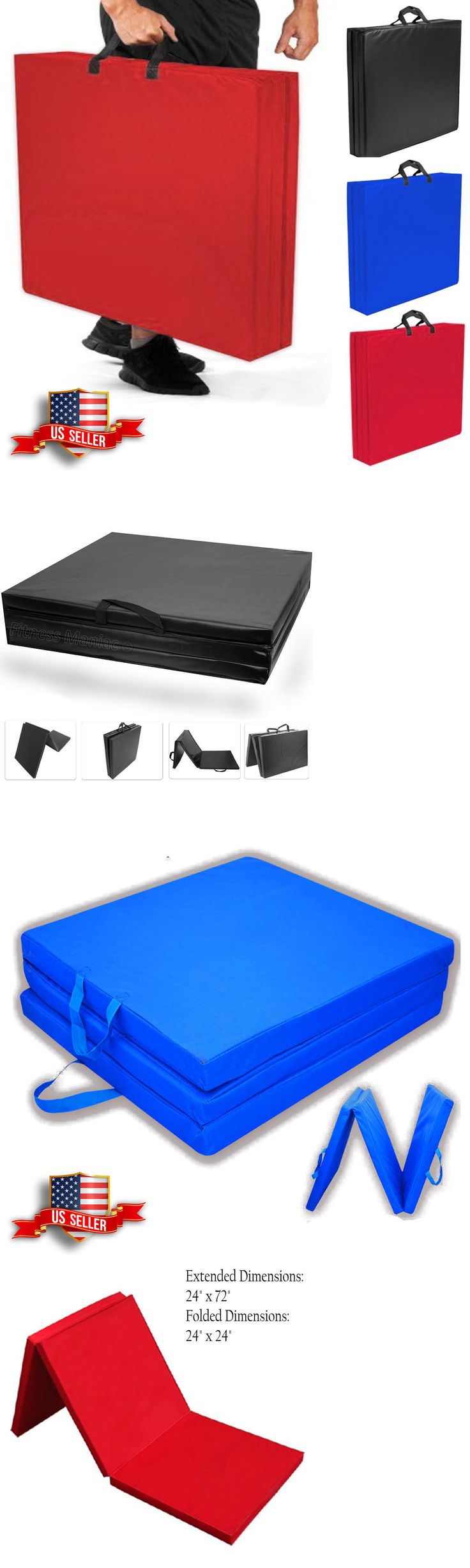 Exercise Mats 44079: Folding Gymnastic Gym Mat Panel Aerobics Exercise Tumbling Black Blue Red -> BUY IT NOW ONLY: $31.49 on eBay!