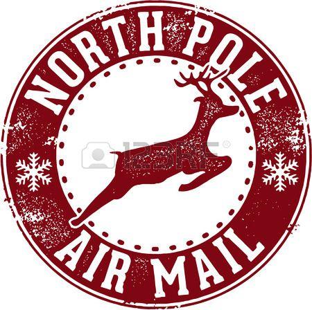 Pôle Nord de Santa Air Mail Cachet de la poste Banque d'images