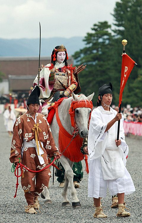"""Tomoe Gozen"" She was a female warrior who was believed to have fought and survived the Genpei War."